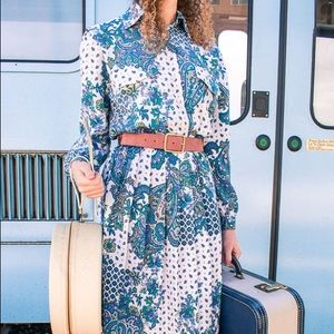 Vintage Dresses - 1980s Vintage Paisley Dress